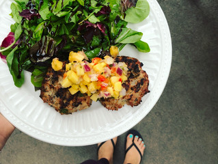 Easy Turkey Burgers with Mango Salsa