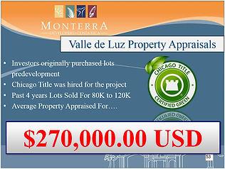 Valle de Luz Property Appraisals