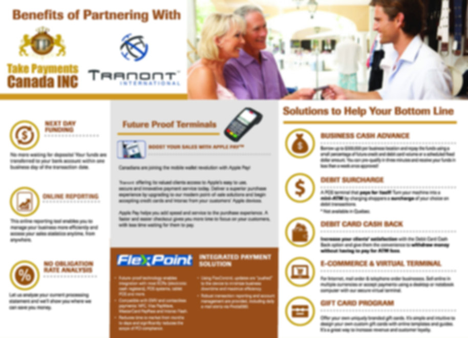 Take Payments Tranont Brochure