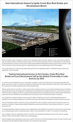 Orotina Airport Announcement