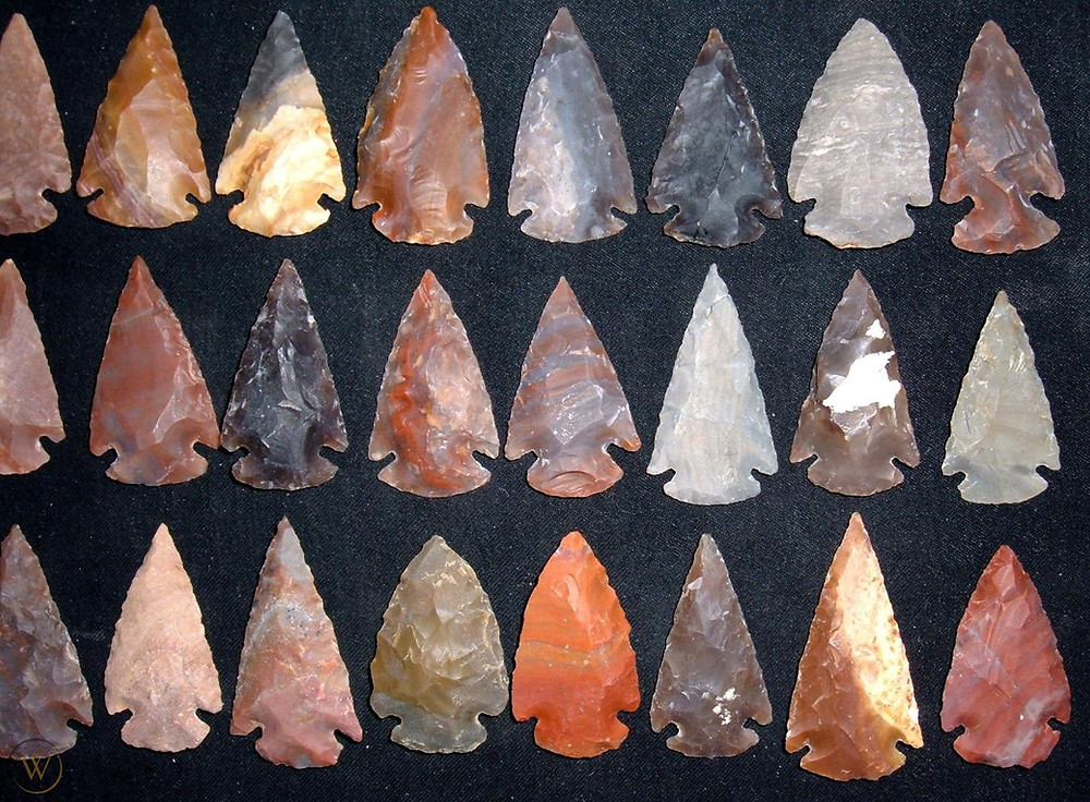 Replica Arrowheads made from Agate