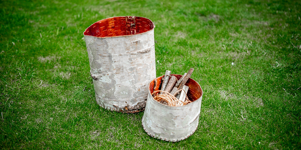 Birch Bark Containers: 6th August