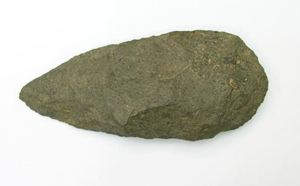 Handaxe found at Waverly Wood made of Andesite