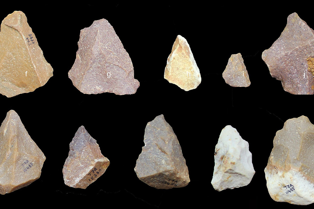 Stone Tools made from Quartz, found in India