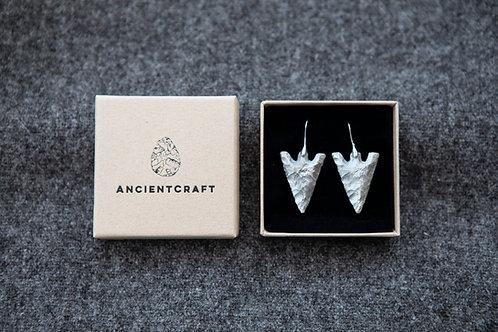 Arrowhead Earrings - Solid Sterling Silver