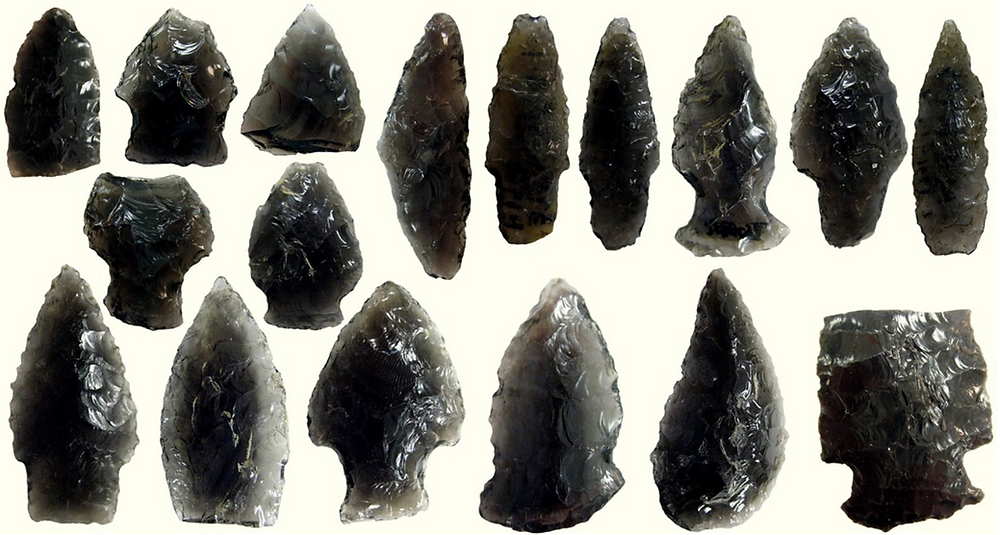 Obsidian Arrowheads from Alaska