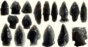 Obsidian Arrowheads from Alaska