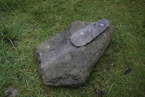 Flint Axehead & Polishing Stone