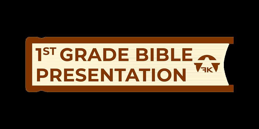 1st Grade Bible Presentation