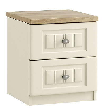 Portofino 2 Drawer Bedside (3 colours)