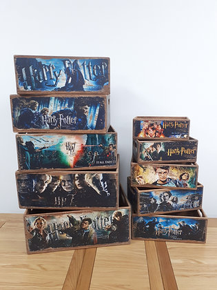 Wooden Storage Box Harry Potter - 10 Sizes