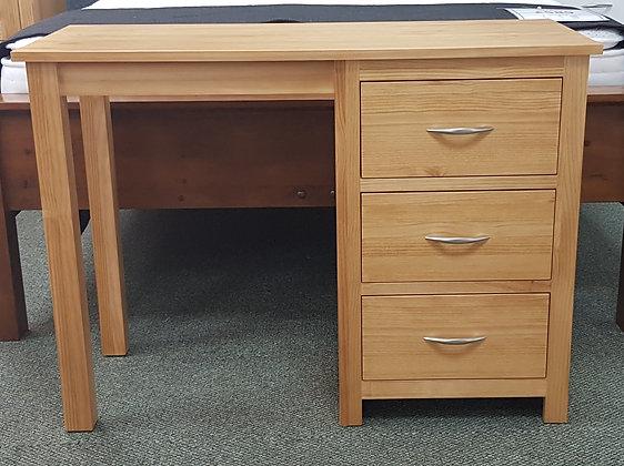 Monterey Single Pedestal Dressing Table / Desk - Choice of Colours