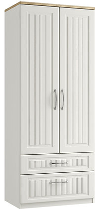 Portofino Tall 2 Door 2 Drawer Gents Robe (3 colours & multiple options)