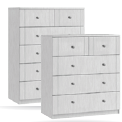 Sienna 3 + 2 Drawer Chest - White