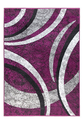 Diamond 5054 Purple Grey 80 x 150 Rug
