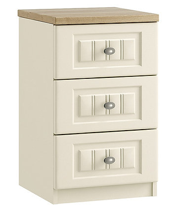 Portofino 3 Drawer Bedside (3 colours)