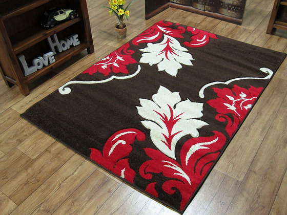 Vibe 2527 Brown Red 120 x 170 Rug