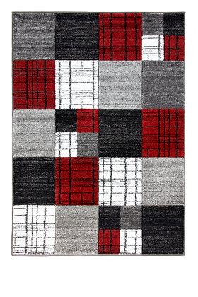Vibe 5053A Grey Red 80 x 150 Rug