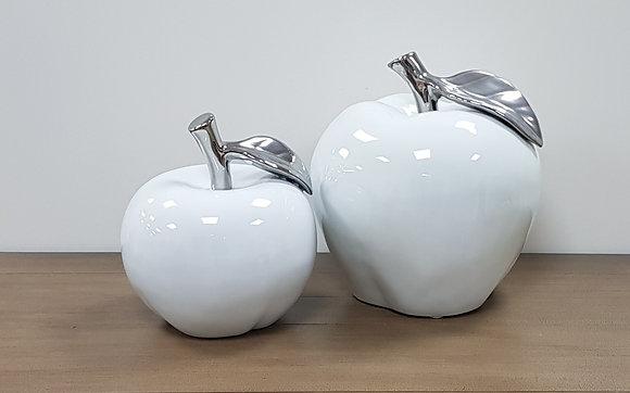 Silver & White Apples