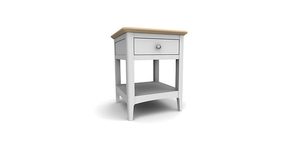 Aspen Lamp Table with Drwr / Bedside - Oak or Grey