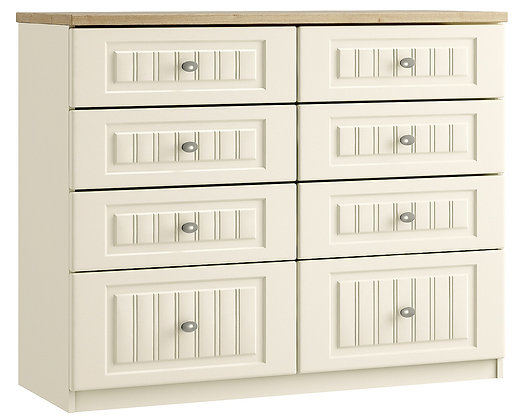 Portofino 8 Drawer Twin Chest with 2 Deep Drawers (3 colours)