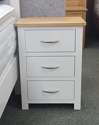Monterey 3 Drawer Large Bedside - Choice of Colours