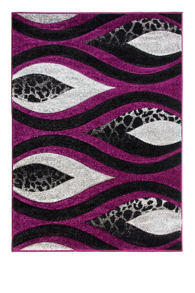 Vibe 5181B Black Purple 120 x 170 Rug