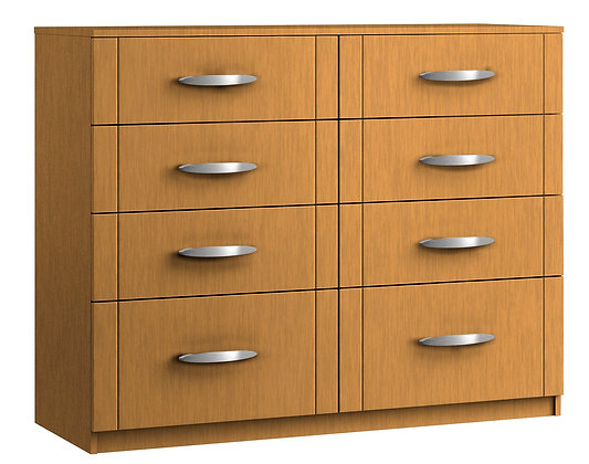 Capri 8 Drawer Twin Chest with 2 Deep Drawers