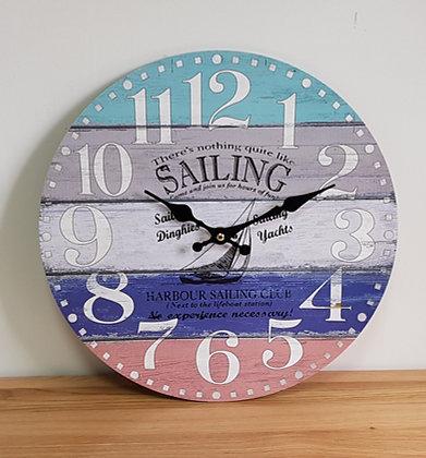Nothing Like Sailing Clock