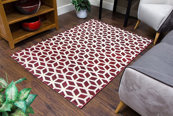 Toscana Cube Red 120 x 170 Rug