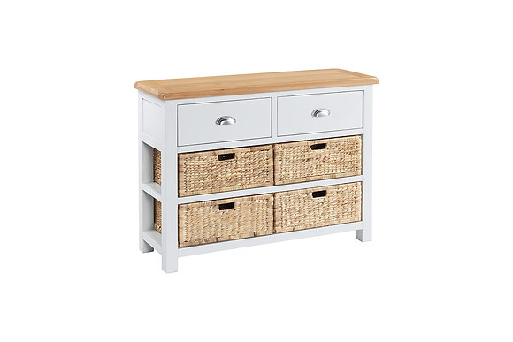 Berkshire Console 2 Drawers 4 Baskets