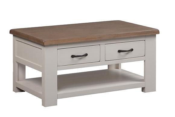 Montana Painted Coffee Table Drawers & Shelf