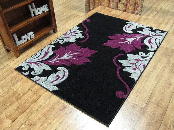 Vibe 2527 Black Purple 80 x 150 Rug