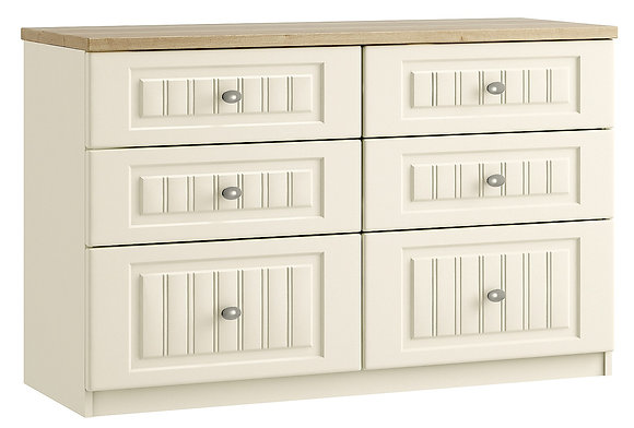 Portofino 6 Drawer Twin Chest with 2 Deep Drawers (3 colours)