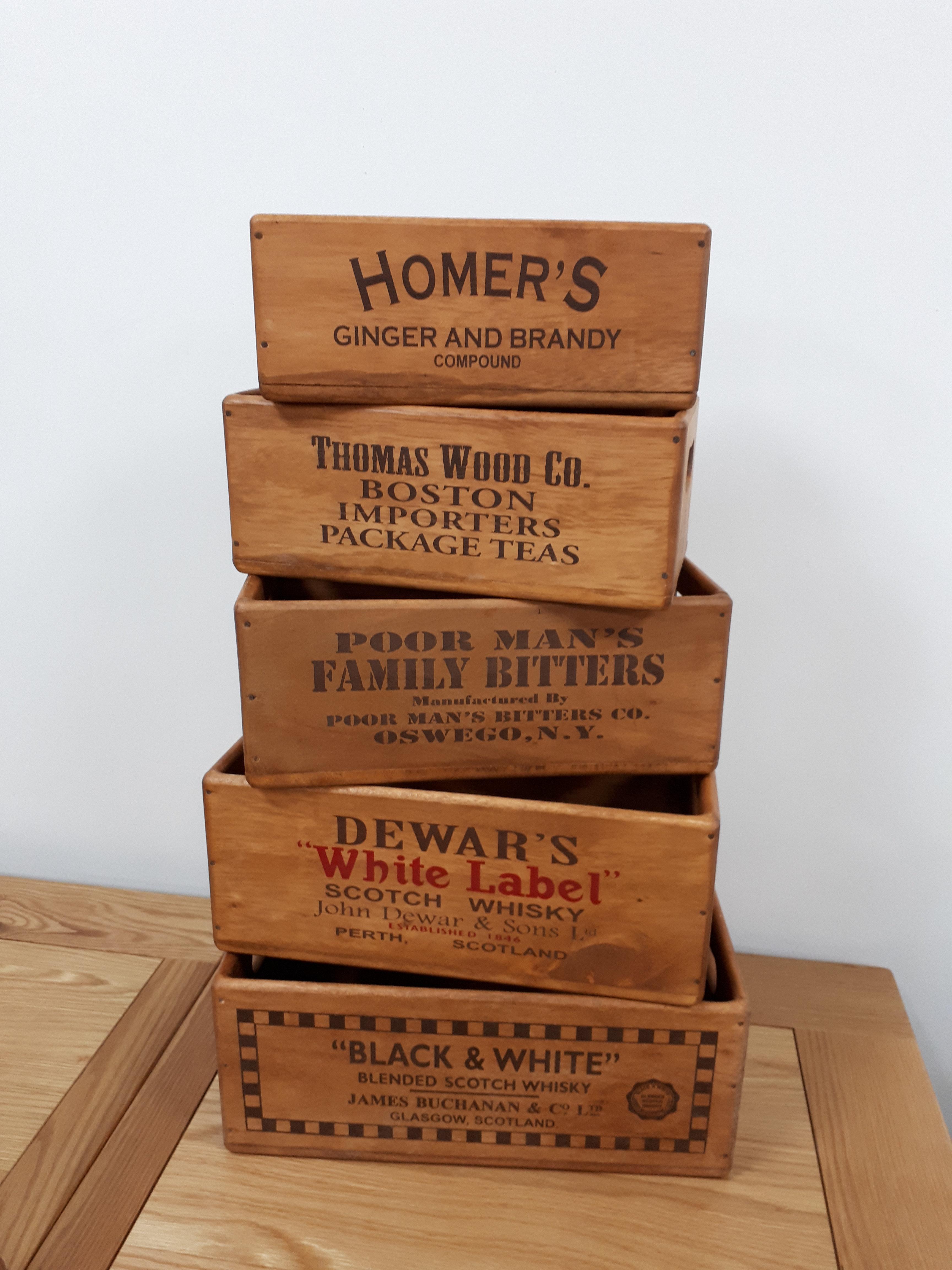 Wooden Storage Box S Small 3 Designs