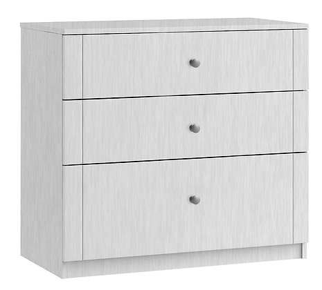 Sienna 3 Drawer Chest with 1 deep drawer - White