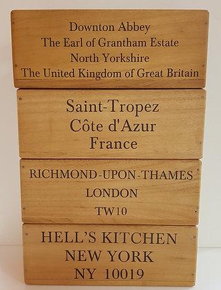 Wooden Storage Box - 3 designs, 2 sizes