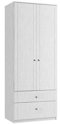 Sienna Tall 2 Door 2 Drawer Gents Robe - White