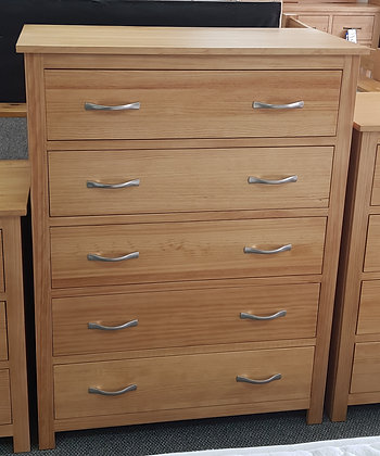 Monterey 5 Drawer Wide Chest - Choice of Colours