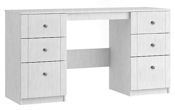 Sienna Double Dressing Table - White
