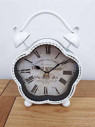 Vintage Style White Table Clock