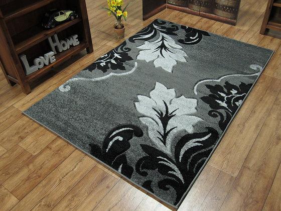 Vibe 2527 Grey Black 80 x 150 Rug
