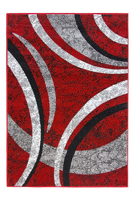 Diamond 5054 Red Grey 80 x 150 Rug