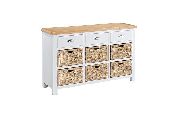 Berkshire Sideboard 3 Drawers 6 Baskets