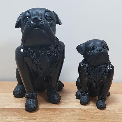 Tuxedo Dogs Ornament Black