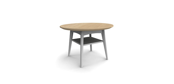 Aspen Round Coffee Table - Oak or Grey