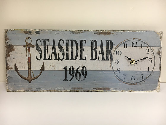 Rectangular Metal Seaside Clock