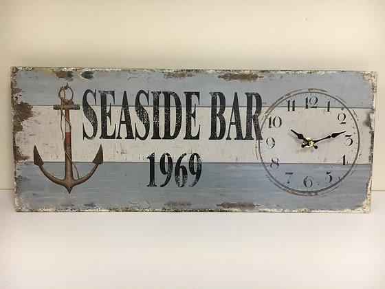 Rectangular Metal Seaside Clock
