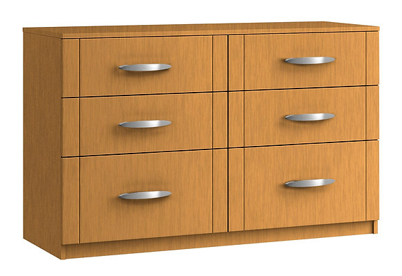 Capri 6 Drawer Twin Chest with 2 Deep Drawers (2 colours)
