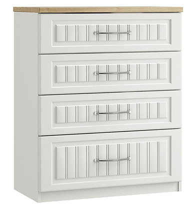Portofino 4 Drawer Chest with 1 deep drawer (3 colours)